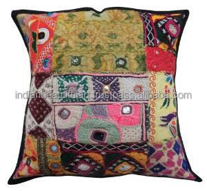 Kutch Embroidery Cushion Cover 30Cm Patchwork Pillowcase Home Decor Indian Art India PL16932