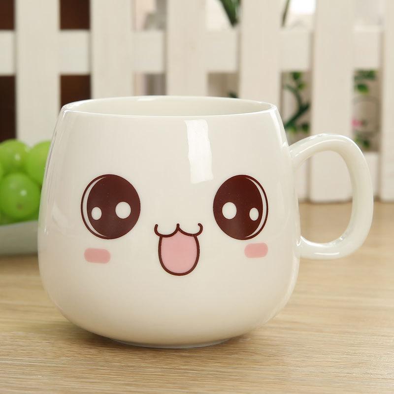 White Kawaii Cute Face Mug Cup Buy Kawaii Face Mug White
