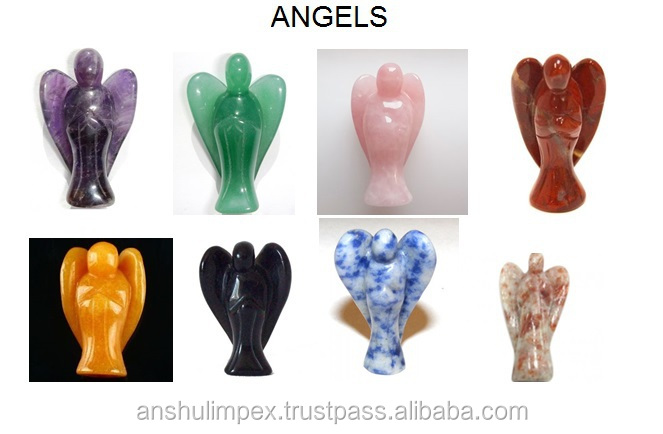 Rose Quartz Angels for Metaphysical Healing and Decoration
