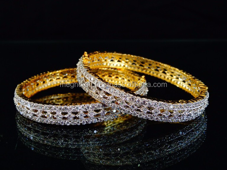 American Diamond Indian Artificial Bangles Cz Stone Fancy Party Wear Ruby Bangle Bracelets Whole Fashion Daily