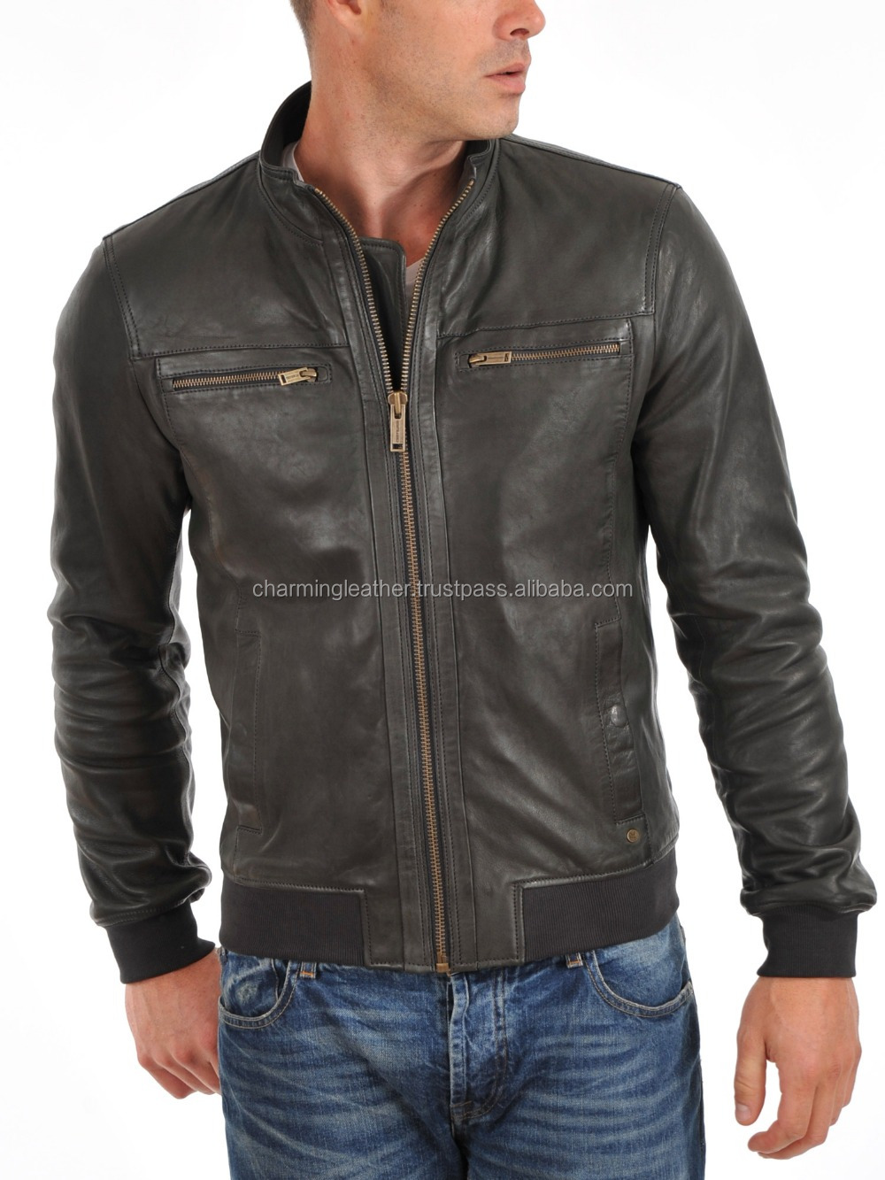 Good Performance Men Cool Leather Jacket - Buy Pakistan Men ...
