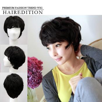 Best Quality 100 Human Hair Wig Full Wig Wavy Short Hair Style