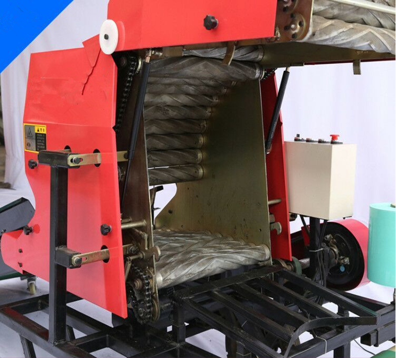 Silage hay round baler wrapping machine for silage forage