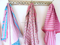 Babies hand quilted kantha baby quilt blankets throw