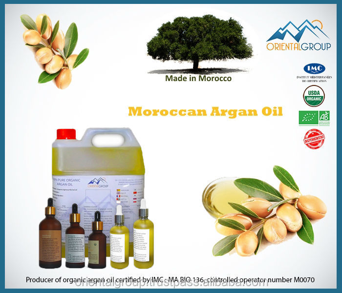 Cosmetic Argan oil with Lavender flavor