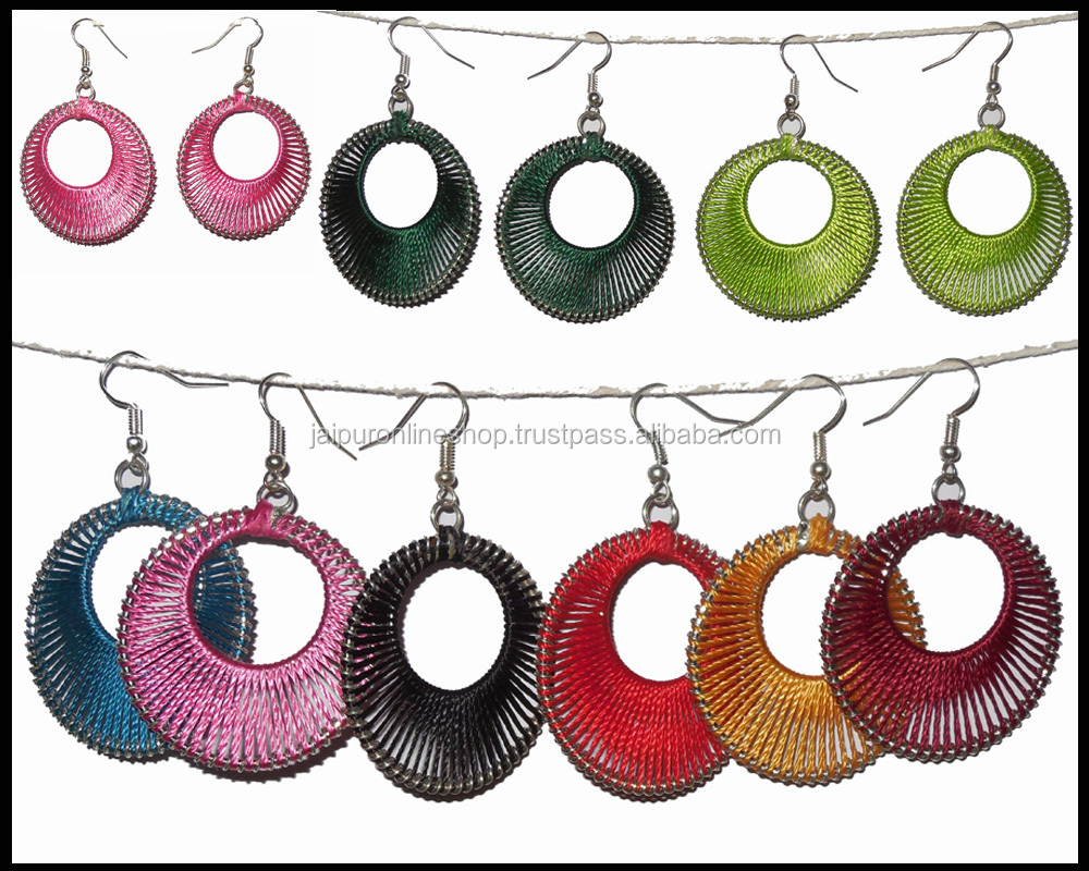 Wholesale Lot Hand Craft Earrings Silk Thread Earrings