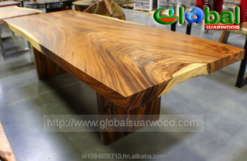 Amazing Live Edge Conference Table Slab Acacia Wood Natural Grain Free Form Metal Legs