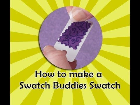 Swatch Buddies-How to Make a Fabric Swatch