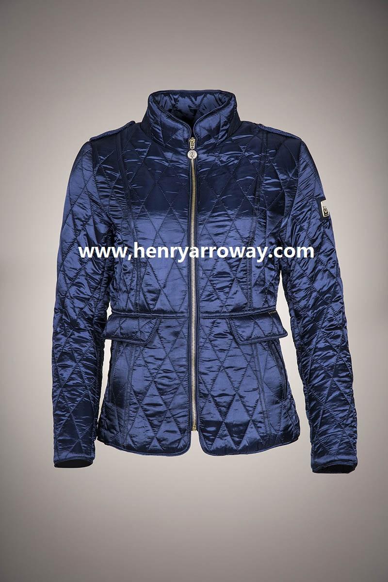 ad48041176771 Moda nuevo estilo de estilo europeo chaqueta acolchada acolchado en plata y  color azul marino de