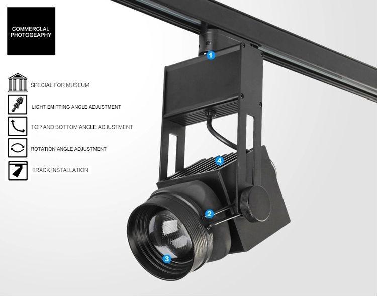 45w 3d Focusable Led Track Lighting Adjustable Intensity Central ...