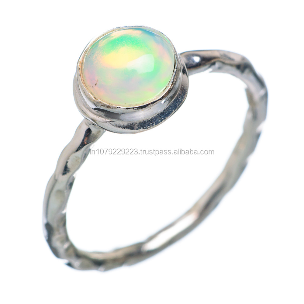 BOHO STYLE!! Ethiopian Opal RING ,925 sterling silver jewelry wholesale,WHOLESALE SILVER JEWELRY,SILVER JEWELRY FROM INDIA