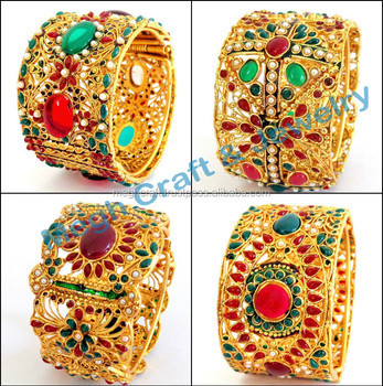 solid dubai women designer bangle ladies elegant bracelet bangles size gold royal products