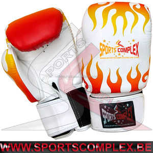 Boxing Gloves Fancy Fire Print Muay Thai Kickboxing Fitness MMA Sparring Practice Punching Bag Gloves Stock in Belgium Europe