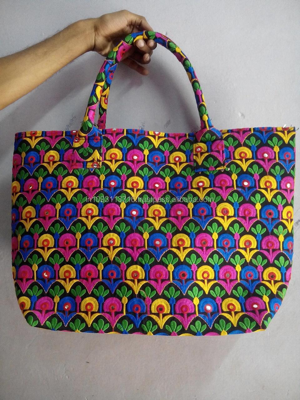 Embroidered Shopping Bag Vintage Banjara Bags Handmade Gypsy Bag ...