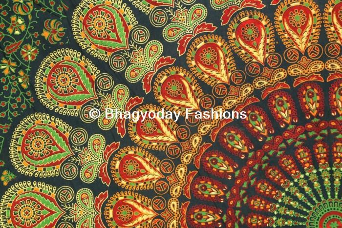 Mandala Tapestry Dorm Wall Hanging Indian Boho Wall Decor Throw Cotton  Ethnic Decor