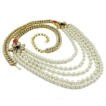 Indian Gold Plated Kamar Bandh Waist Chain Saree Belt Wedding Party
