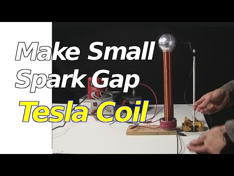 How to Make Tesla Coil - Small Spark Gap Tesla Coil