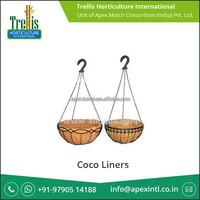 Leading Manufacturer Supplying Decorative Coir Hanging Basket for Garden Stores