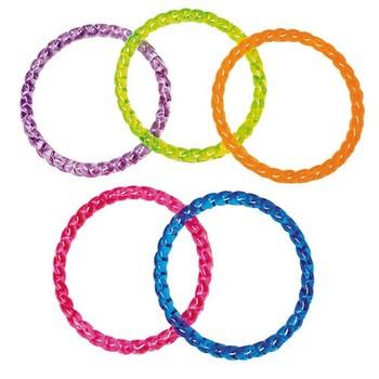 Crystal Plastic Bangle Bracelets 24 Pieces Vl31
