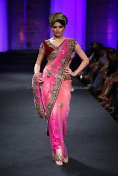 e2cc80c6e3 Heavy Lacha Lehenga Style Saree / Designer Stone Work Lehenga Sari ...