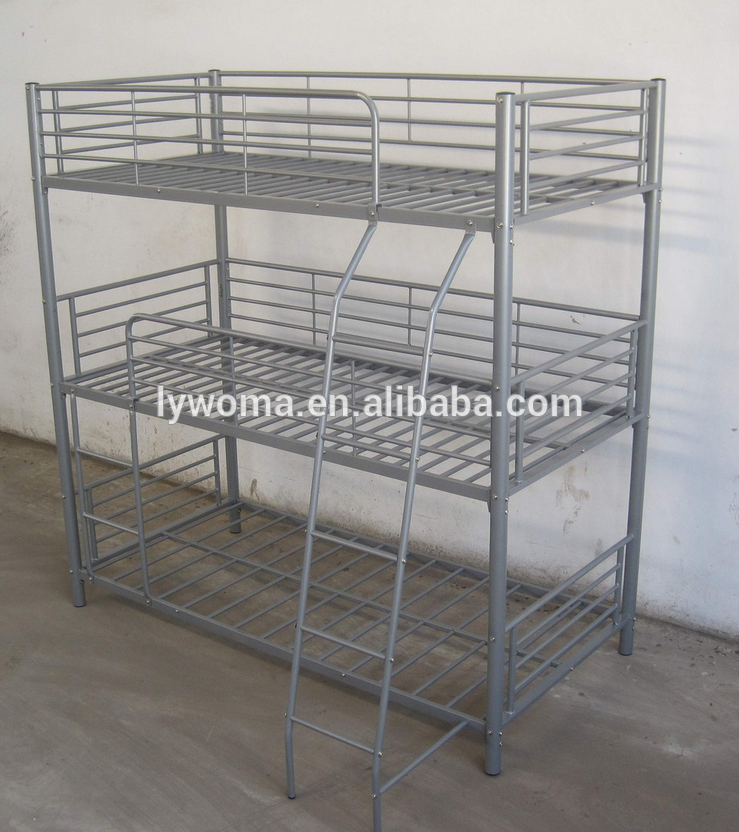 Cheap hotel metal triple bunk beds for adult on sale buy for Bunk bed frames for sale