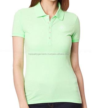 b388e1b56de High Quality Women Girl Ladies Wholesale Tee T-shirt Grey POLOs Cotton  Polyester Cheap Fit