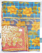 Wholesale Price Lot 10 Piece Ikat Kantha Quilt/ Kanthaquilt Textile/ King Kantha Quilt