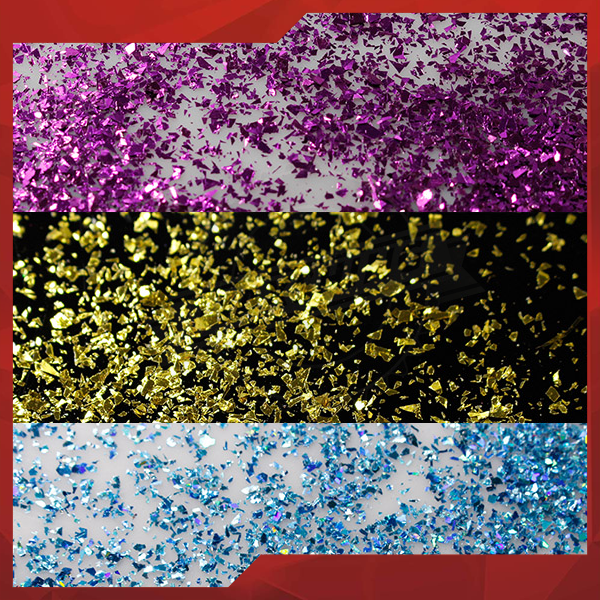 Nail Art Foil Flakes nail pigment powders bulk foil flakes for nail polish
