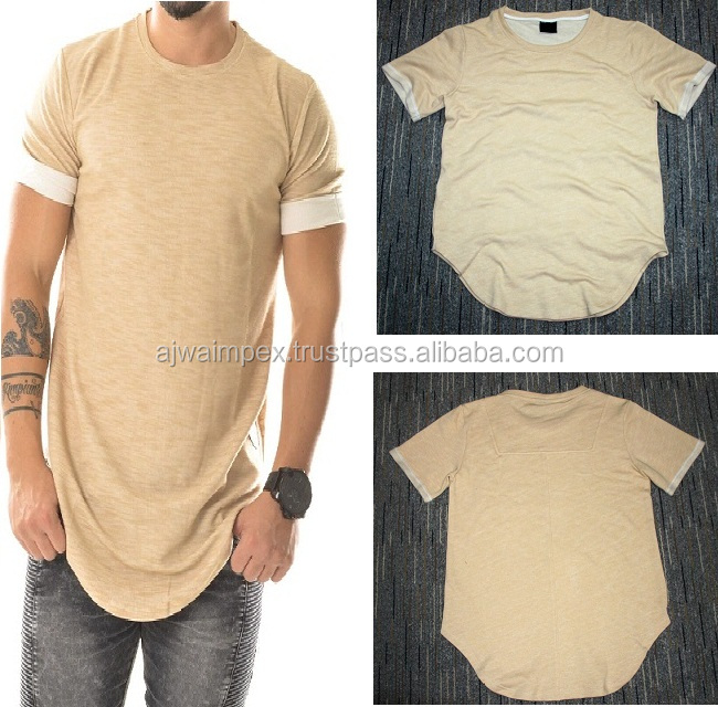 elongated t shirt beige-summer-hip-hop-font-b-t-b-font-font-b-shirt-b-font-kanye-west