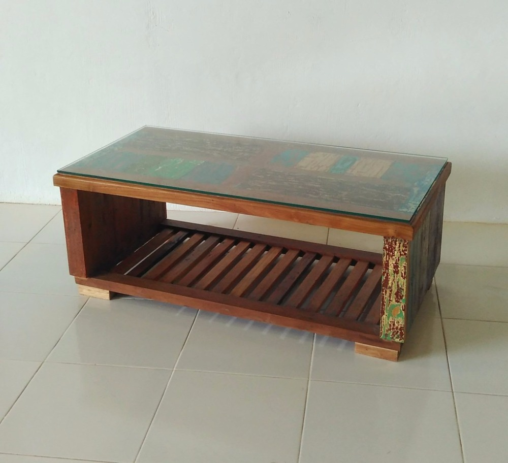 - Indonesian Old Boat Coffee Table - Buy Wooden Coffee Tables