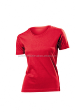 wholesale custom blank breathable 100% cotton round neck women T shirts gym deep round neck tee shirt