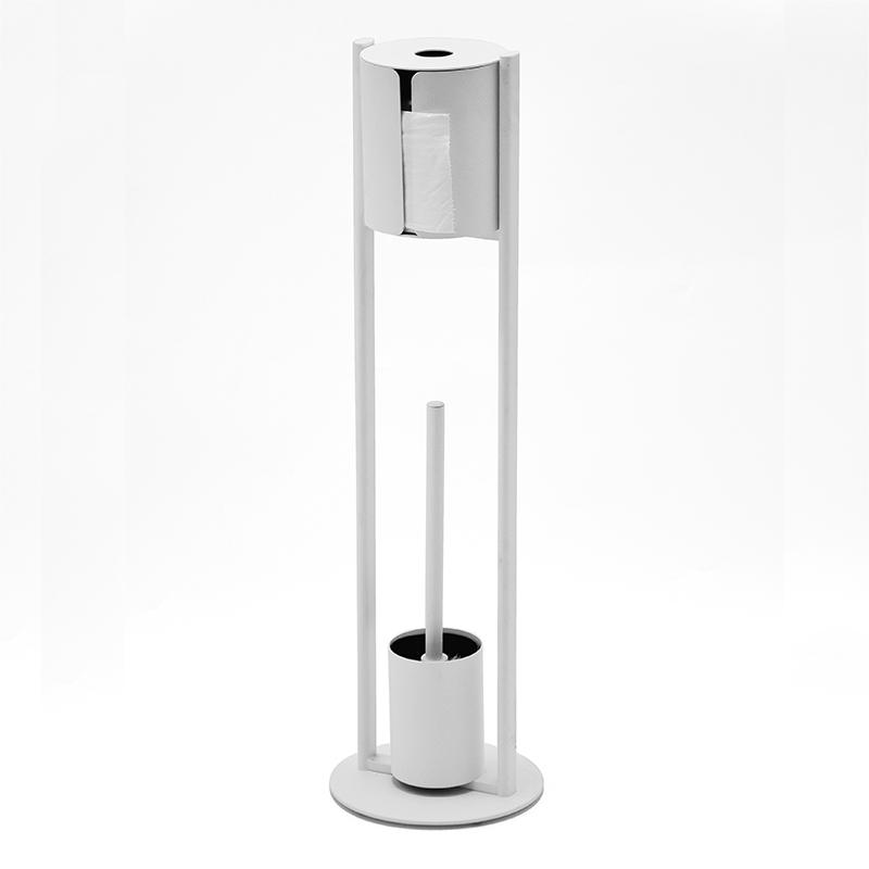 toilettenpapierhalter stehend mit wc b rste buy toilettenpapier halter set metall. Black Bedroom Furniture Sets. Home Design Ideas