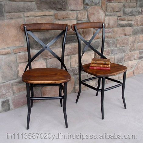 Vintage Solid Wood And Metal Cafe Chair Wooden Product On Alibaba