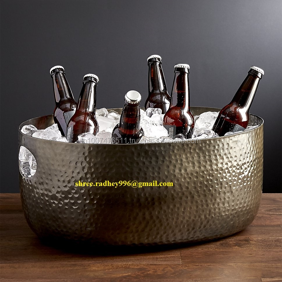 Factory custom party galvanized beverage oval tub for beer
