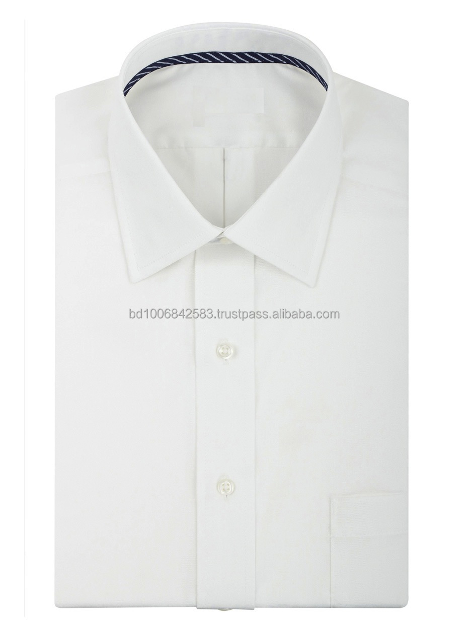 Mens White Dress Shirt100 Cotton Or 65 Polyester 35 Cotton
