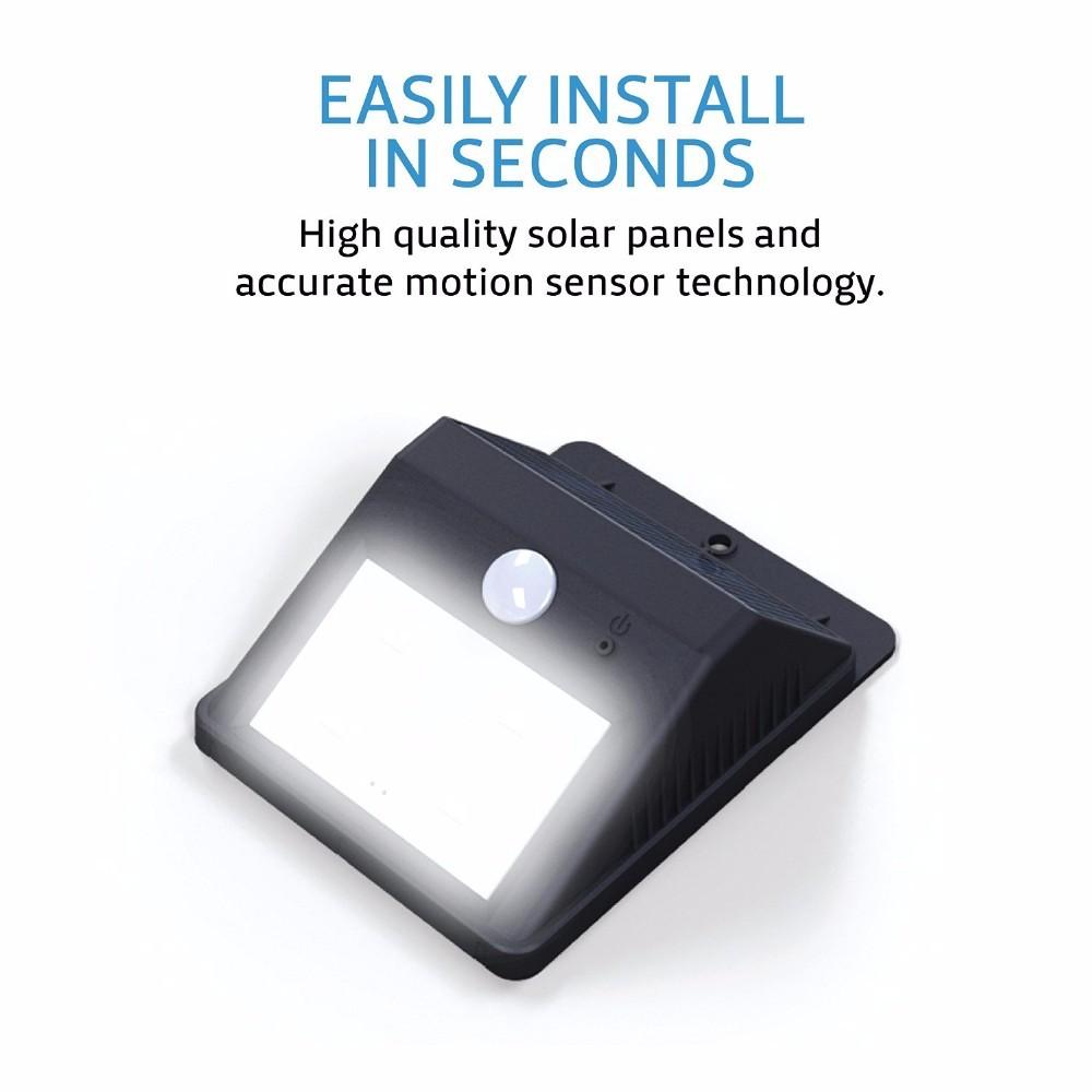 8 Led Outdoor Solar Motion Sensor Lights Solar Lights Wireless Waterproof Ex