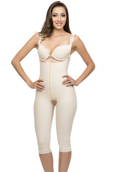 66bc1f4692 Post Natal Mid-Thigh Length Closed Buttocks Enhancing Compression Girdle  Hook   Eye Front Center