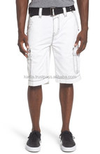 Contrast Stitch Cargo Shorts with Belt