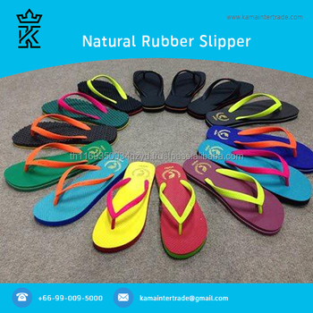 Wholesale Flip Flops Natural Rubber Beach Sandal