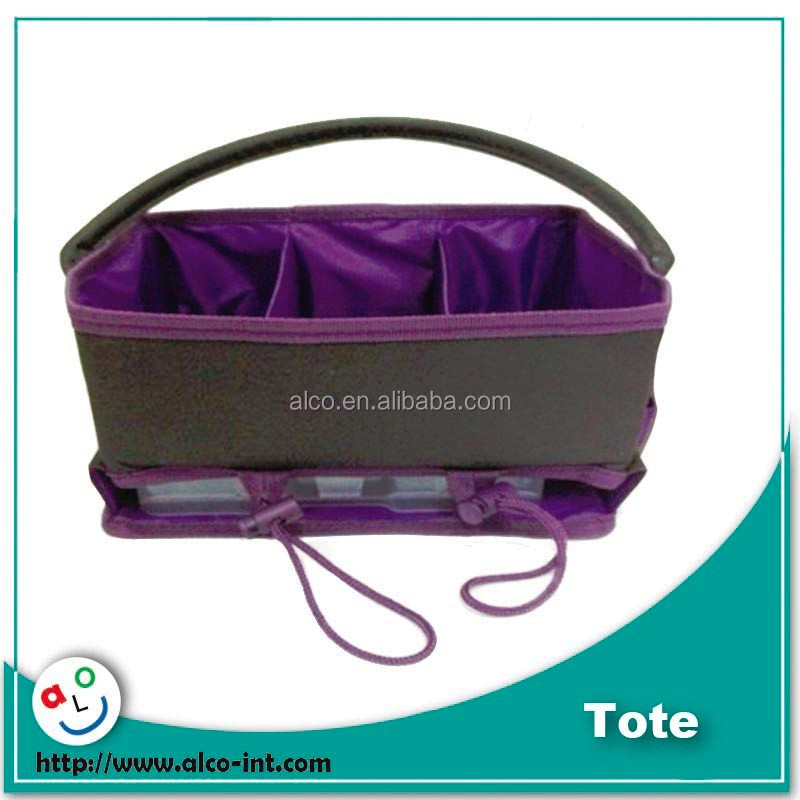 0c8742a371 Purple Color Craft Tote Bag For Scrapbooking Organizer With Jewel ...