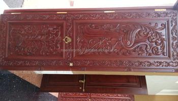 Indian main door designs of teak wood with antique carving for Main door design of wood