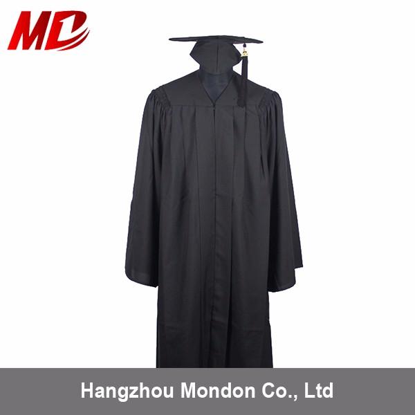 Bachelor Black Graduation Gown University gowns