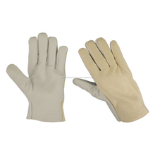 Assembly gloves Cotton Back Leather Palm