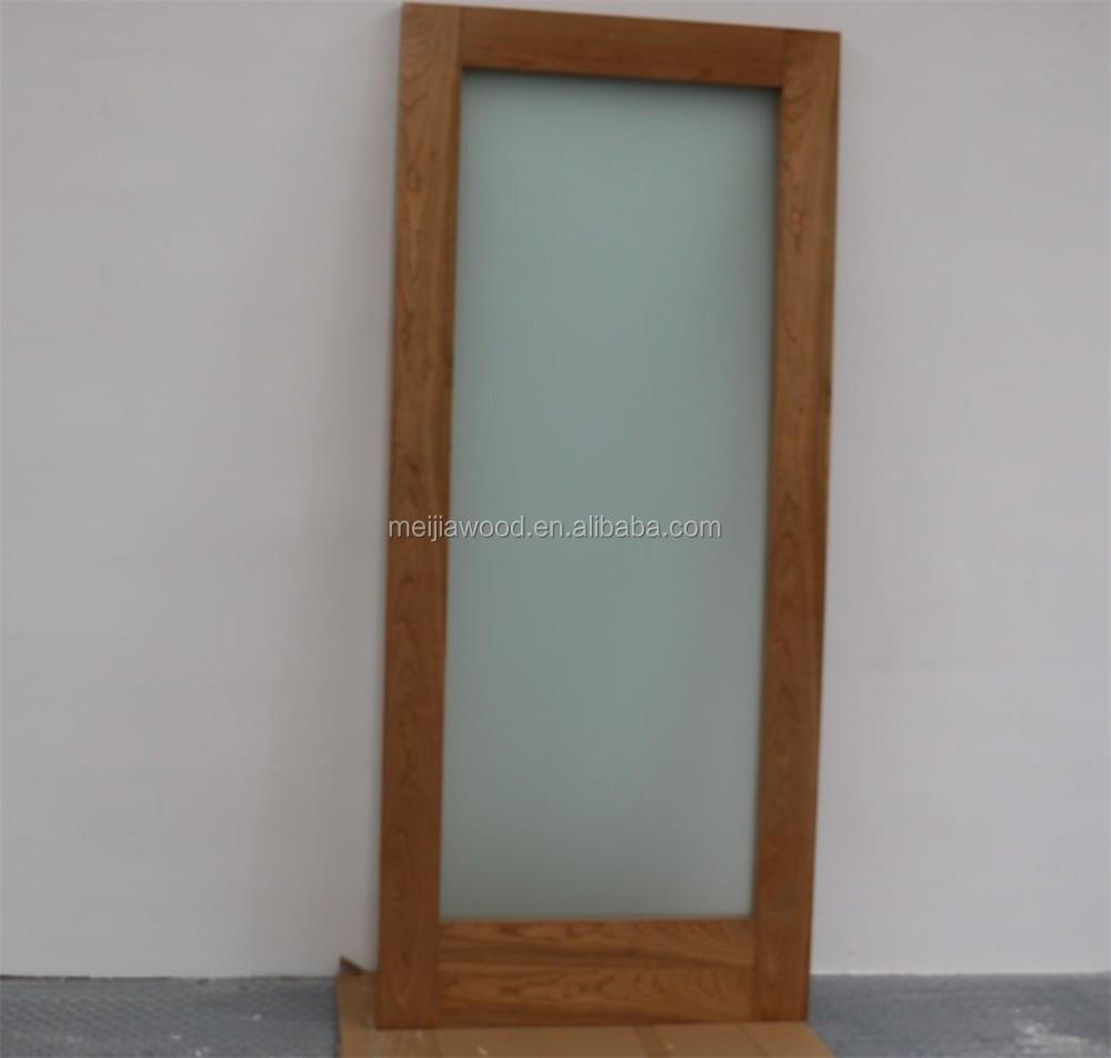 Interior Wood Door With Frosted Glass Panel Buy Interior Sliding Barn Doors Bathroom Door With