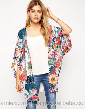 indian kimono cotton 100 printed fabrics chiffon womens kimonos