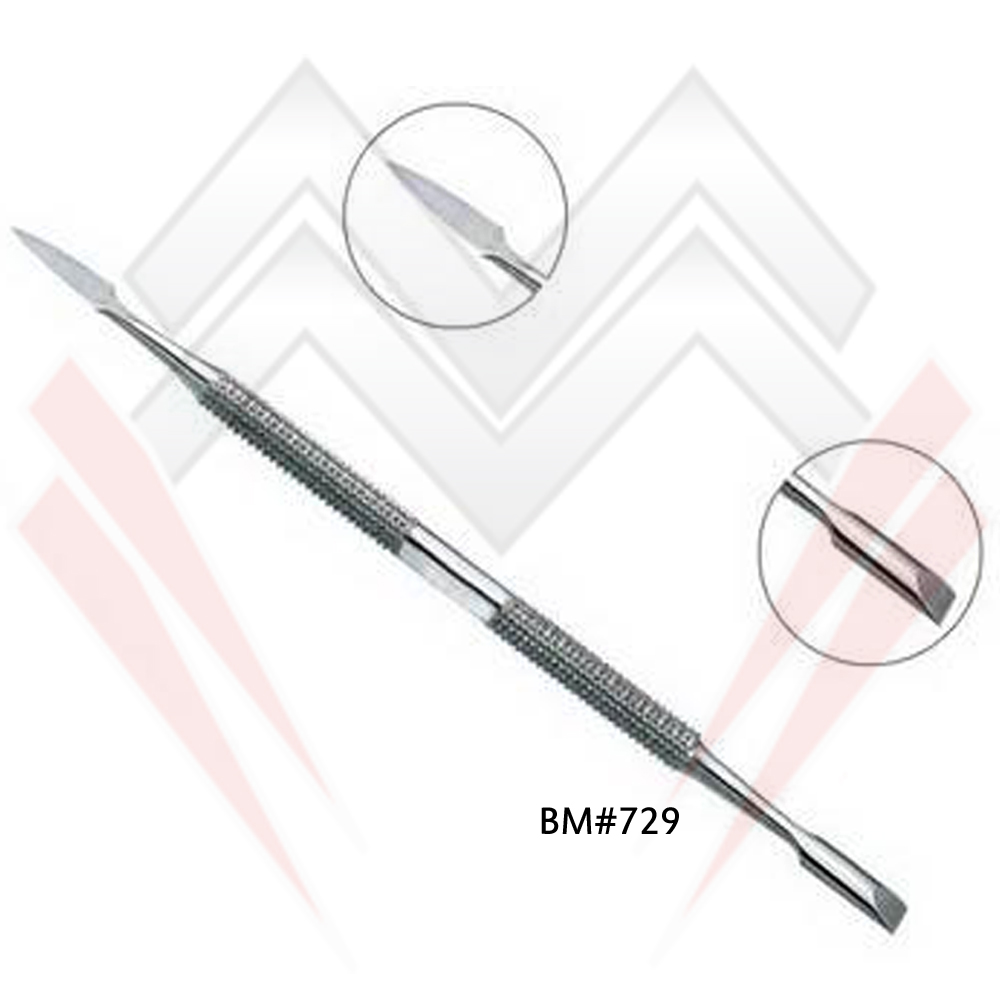 Premium Stainless Steel Manicure / Pedicure Cuticle Pusher MARIG SURGICAL CO