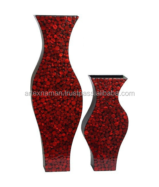 set of two mother of pearl vase for home decoration with nice design from Vietnam