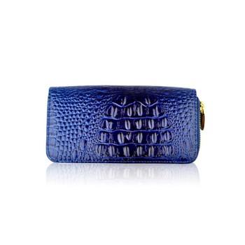 Patent Animal Texture Double Zip Purse Las Women Wallet Handbags
