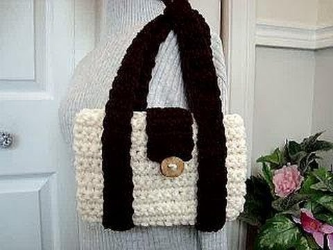 CROCHET MIMI BAG, how to diy, shoulder bag, laptop bag, school bag, messenger bag