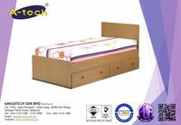 Daisy Tatsuta Oak Bedroom Set - BD 842 Single Bedframe modern bedroom furniture sets with 2 Under Drawers